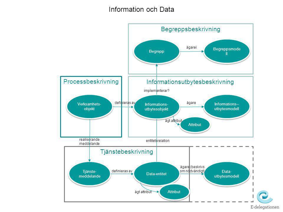 Information och Data Begreppsbeskrivning Processbeskrivning