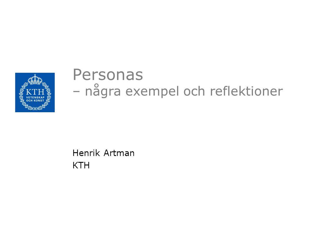 Personas – några exempel och reflektioner