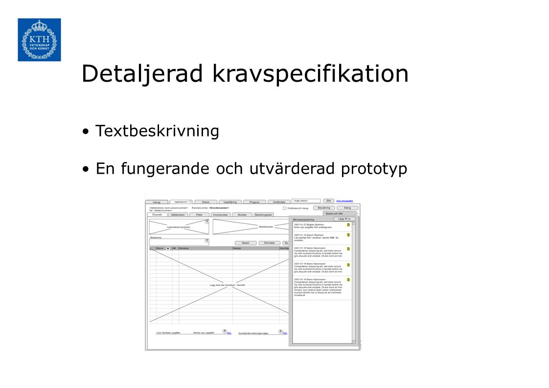 Detaljerad kravspecifikation