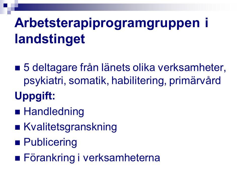 Arbetsterapiprogramgruppen i landstinget