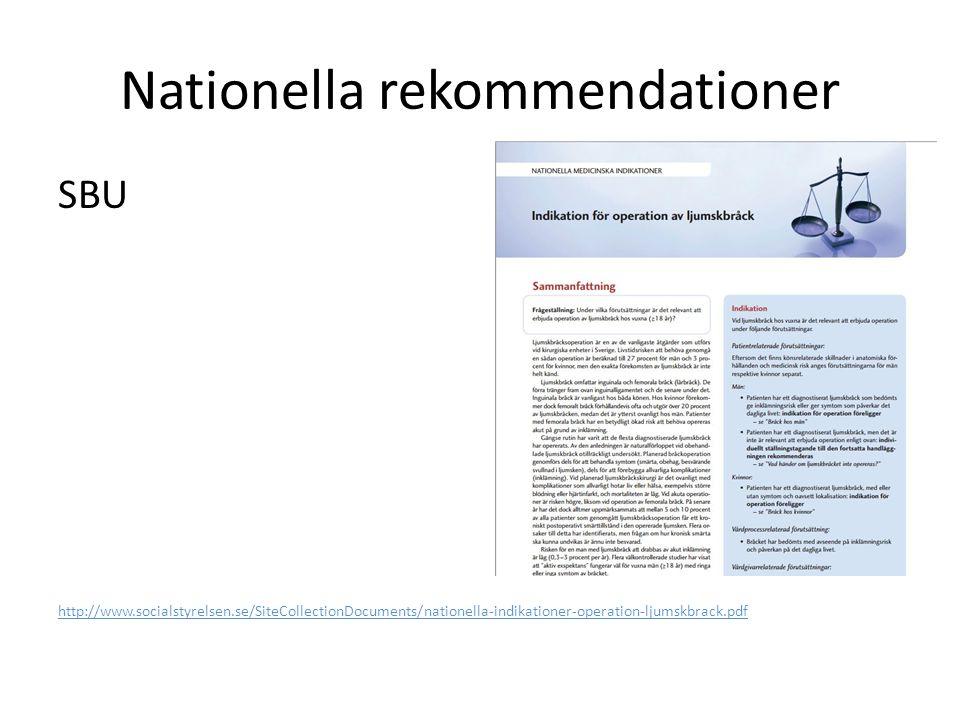 Nationella rekommendationer