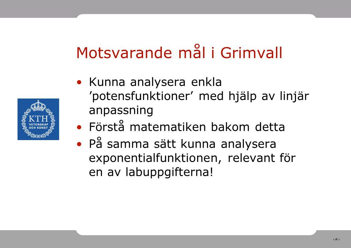 Motsvarande mål i Grimvall