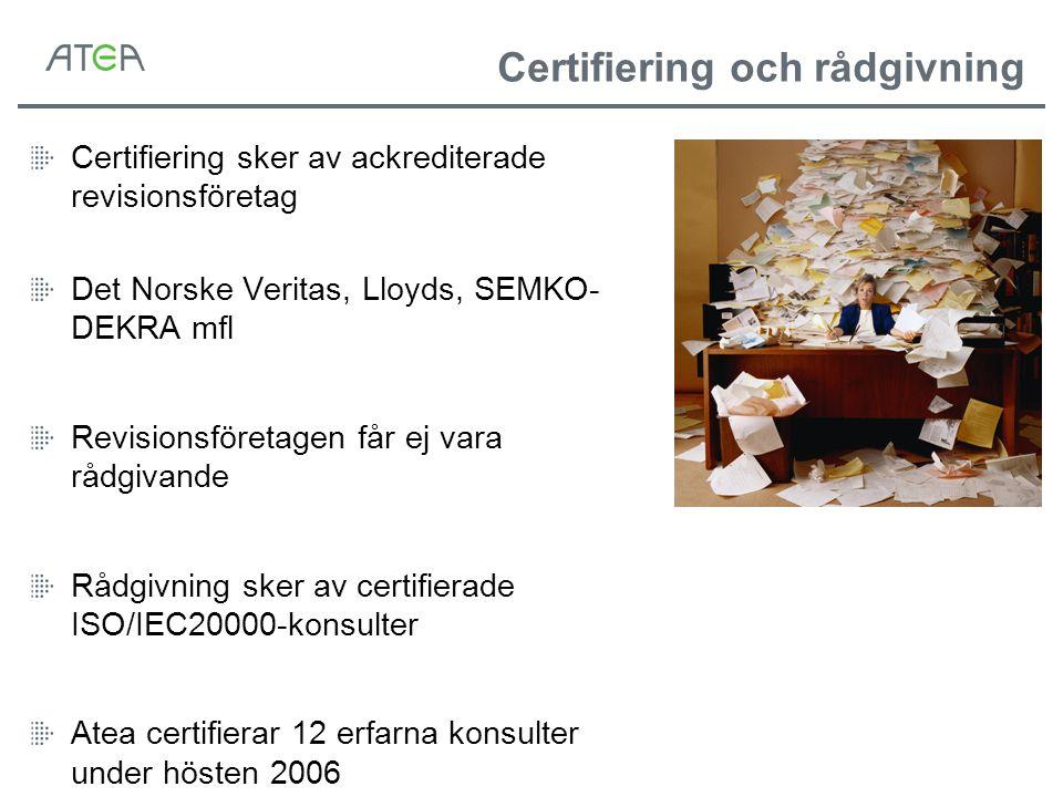 Certifiering och rådgivning