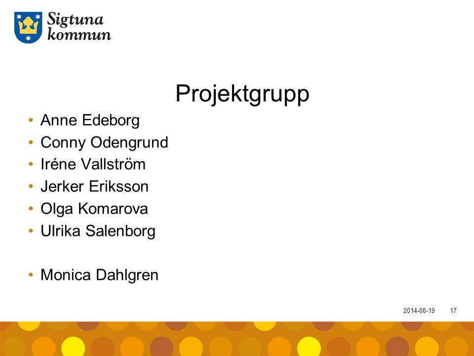 Projektgrupp Anne Edeborg Conny Odengrund Iréne Vallström