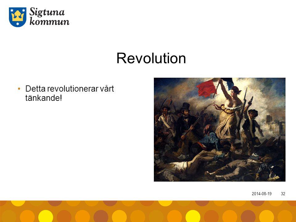 Revolution Detta revolutionerar vårt tänkande! 2017-04-05