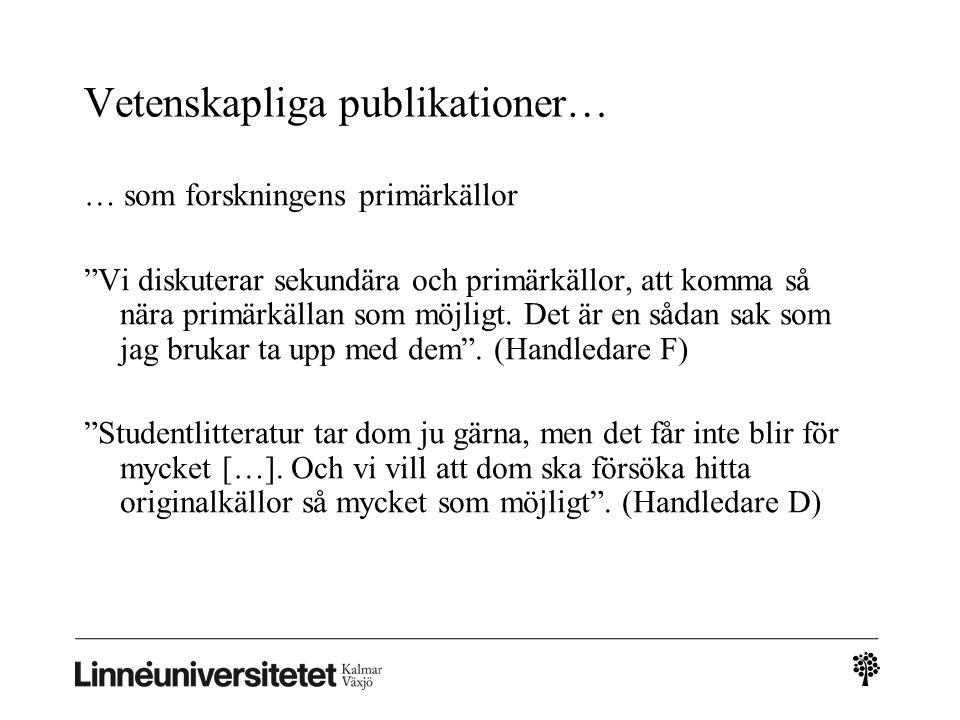 Vetenskapliga publikationer…