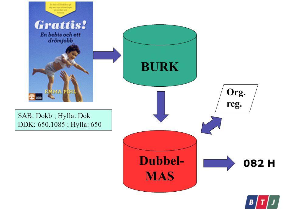 BURK Dubbel-MAS Org. reg. 082 H