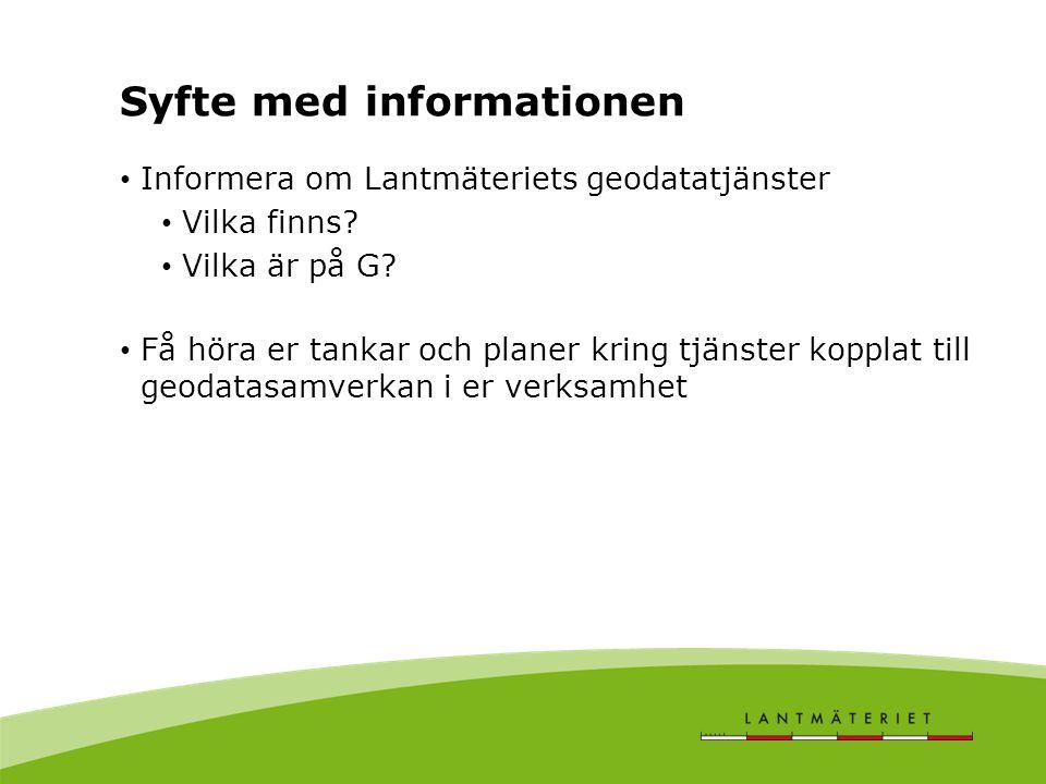 Syfte med informationen