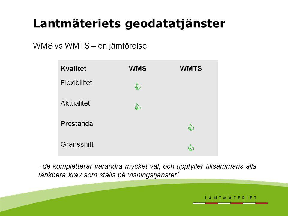 WMS vs WMTS – en jämförelse