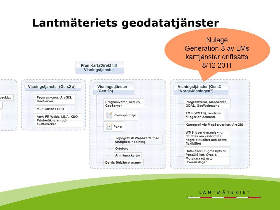Generation 3 av LMs karttjänster driftsätts 8/12 2011