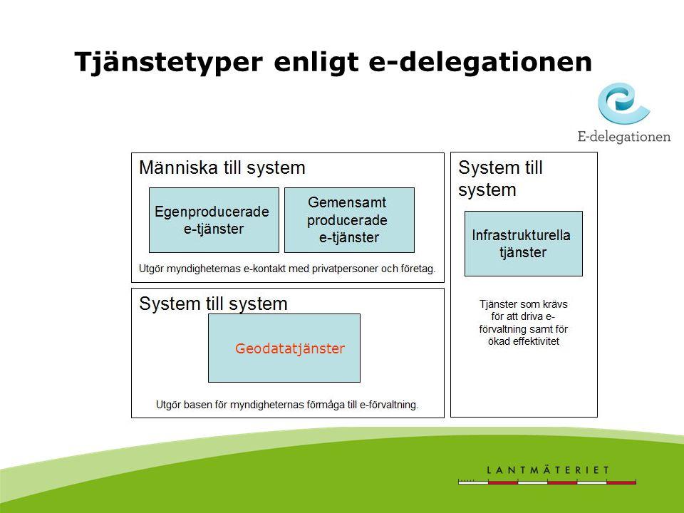 Tjänstetyper enligt e-delegationen