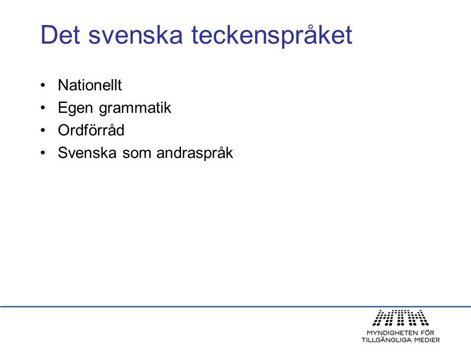 Det svenska teckenspråket