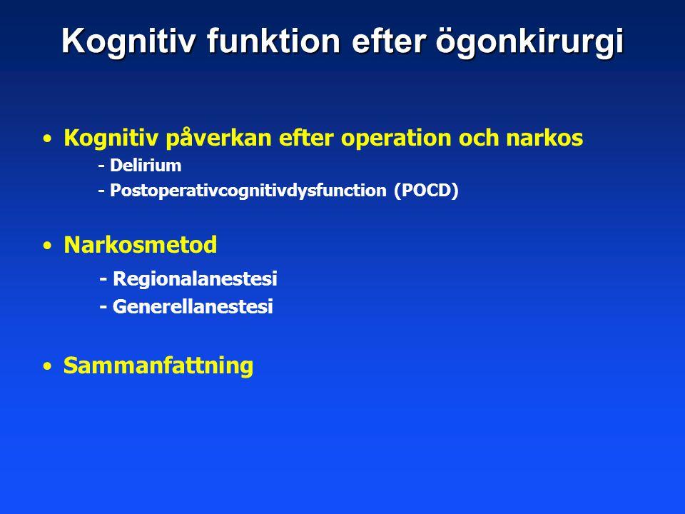 Kognitiv funktion efter ögonkirurgi