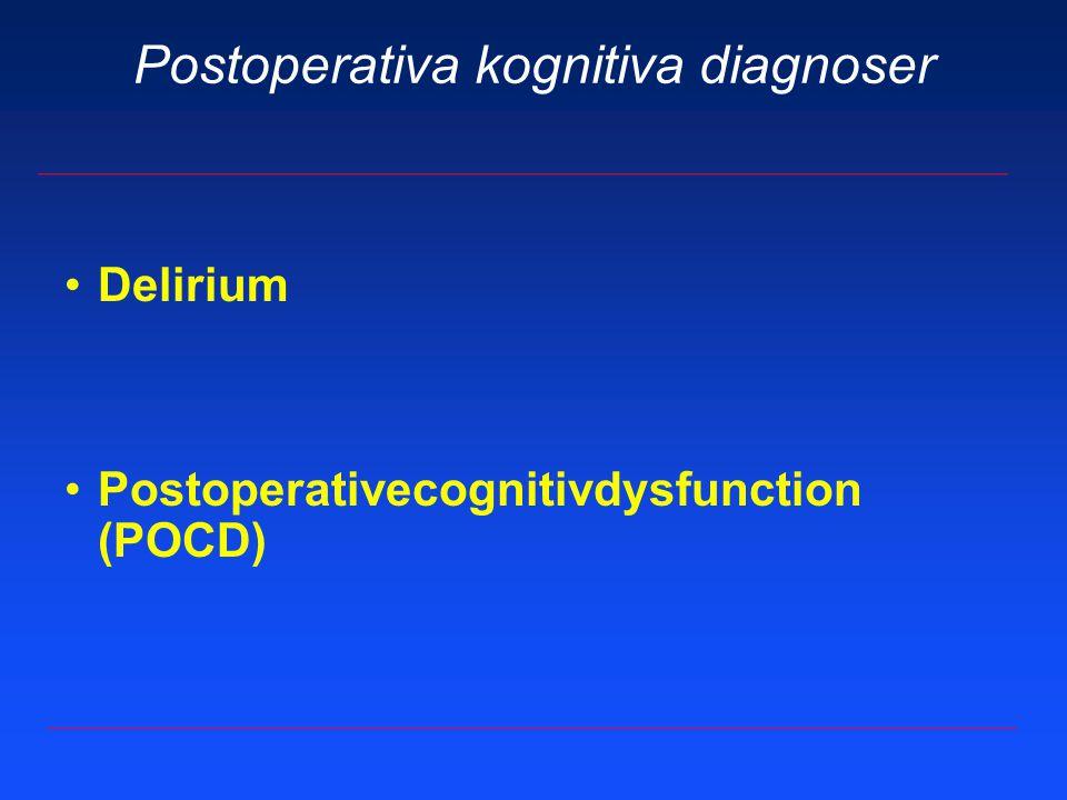 Postoperativa kognitiva diagnoser