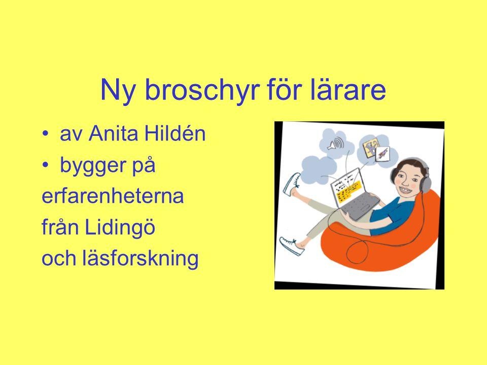 Ny broschyr för lärare av Anita Hildén bygger på erfarenheterna