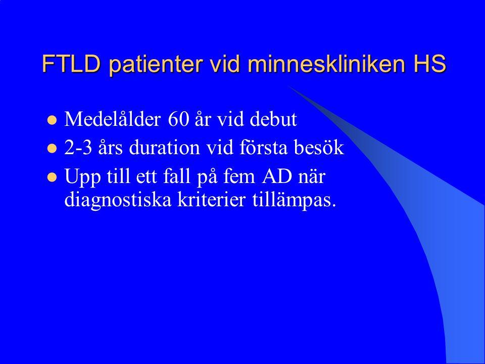 FTLD patienter vid minneskliniken HS