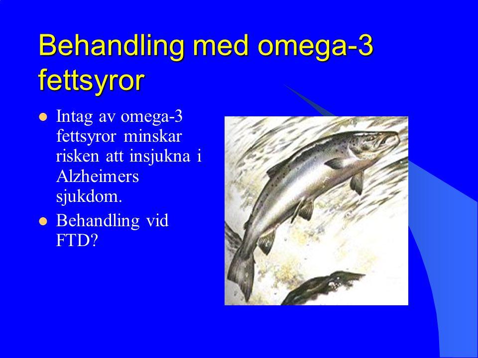 Behandling med omega-3 fettsyror