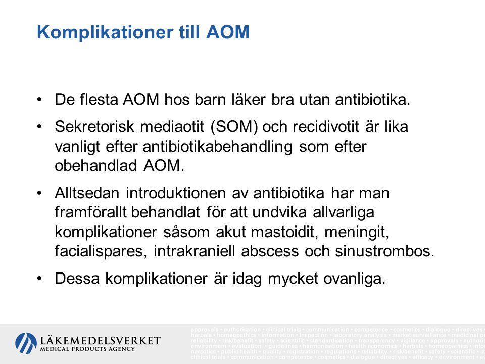 Komplikationer till AOM