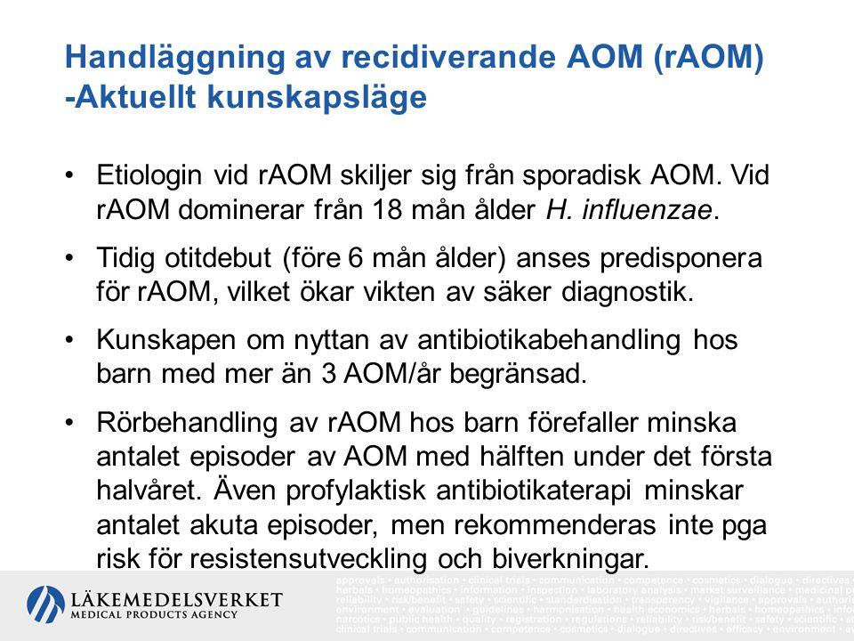 Handläggning av recidiverande AOM (rAOM) -Aktuellt kunskapsläge