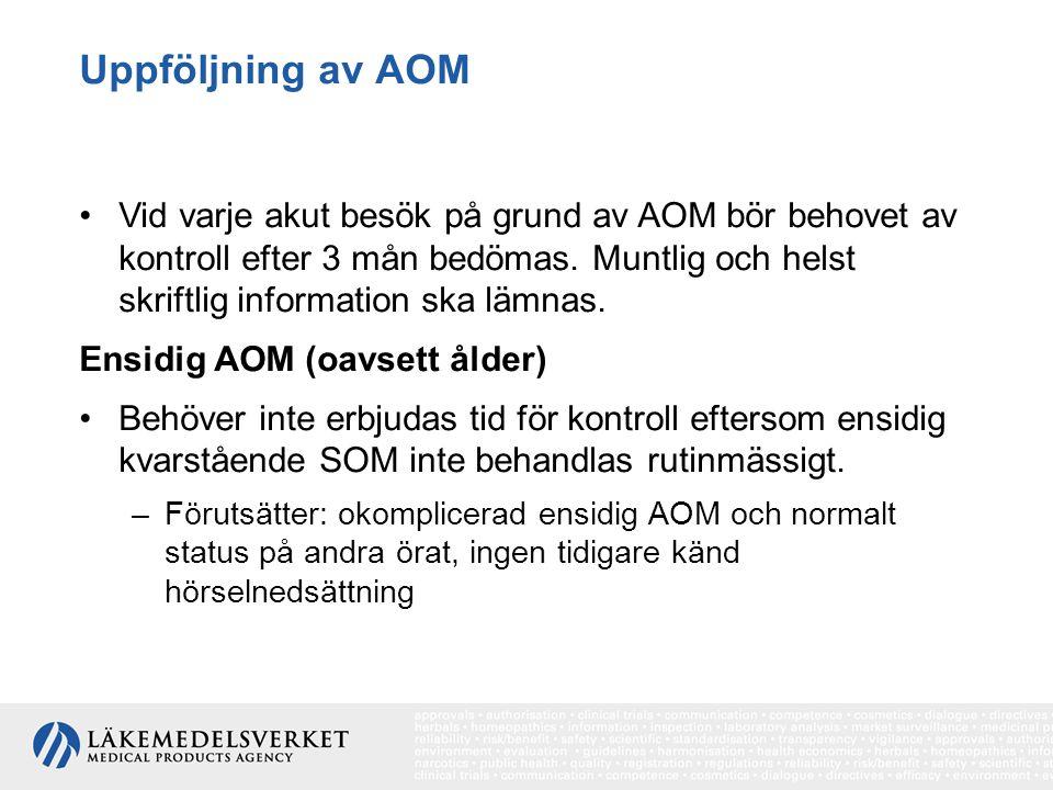 Uppföljning av AOM