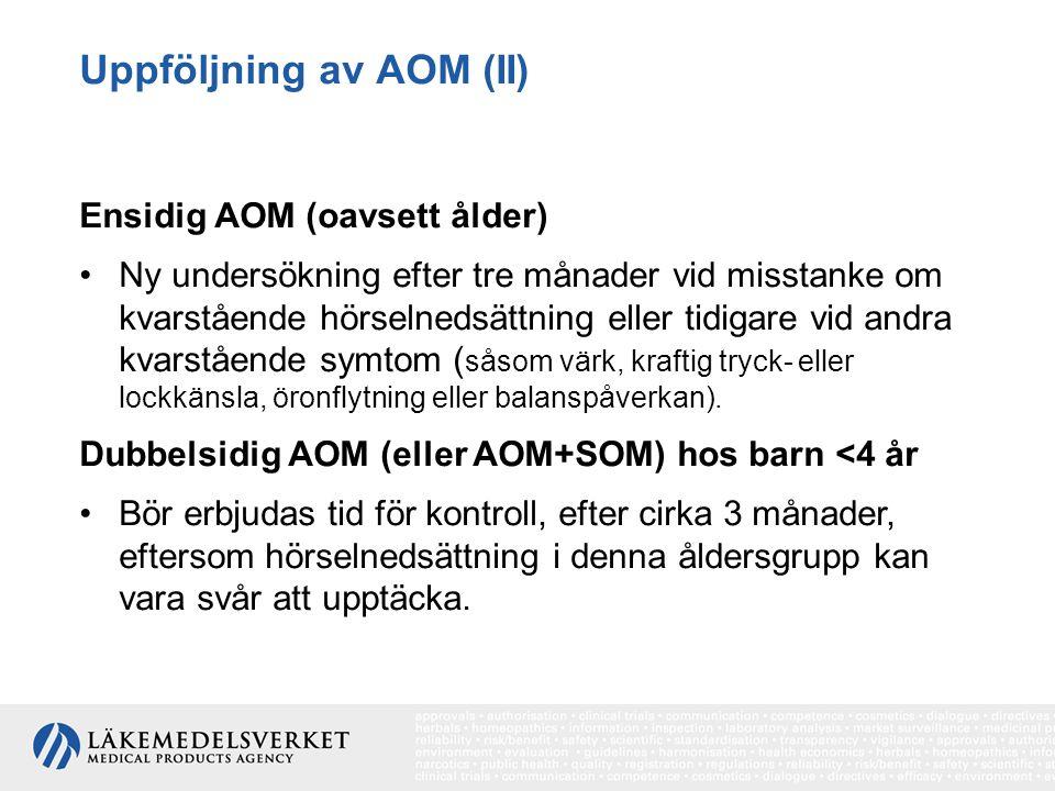 Uppföljning av AOM (II)