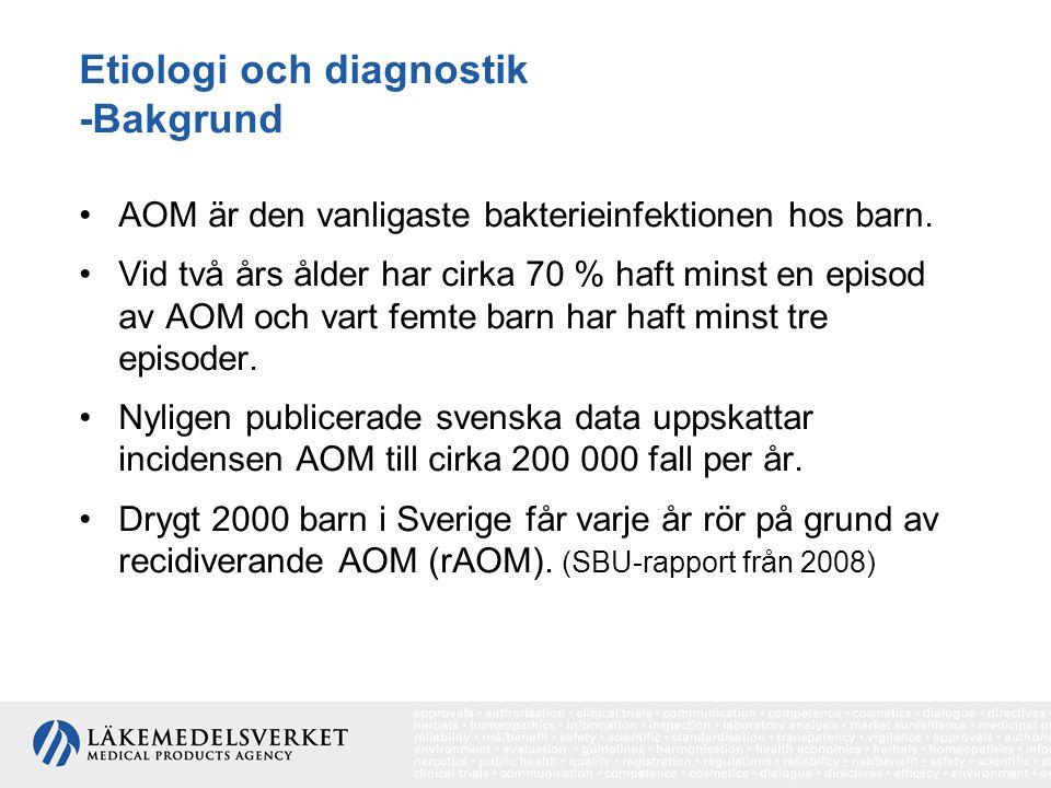 Etiologi och diagnostik -Bakgrund