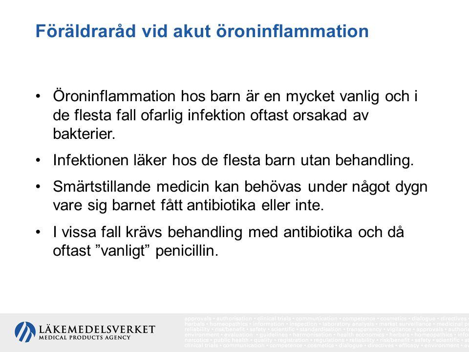 Föräldraråd vid akut öroninflammation