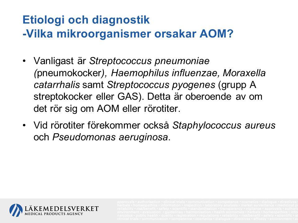 Etiologi och diagnostik -Vilka mikroorganismer orsakar AOM