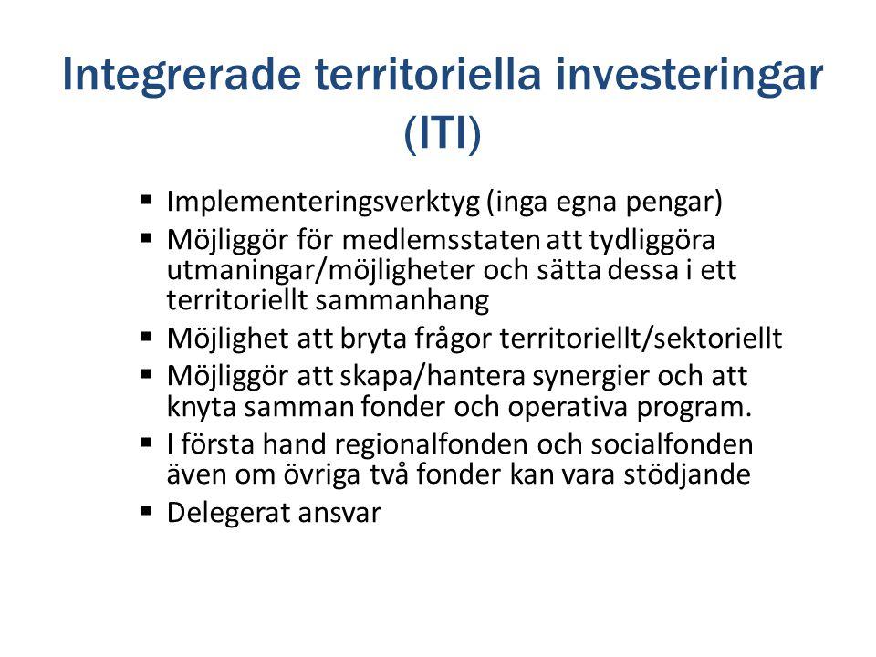 Integrerade territoriella investeringar (ITI)