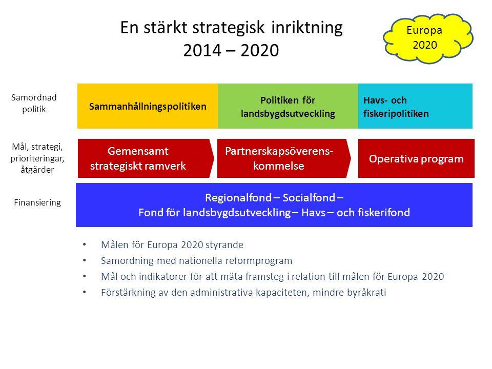 En stärkt strategisk inriktning 2014 – 2020