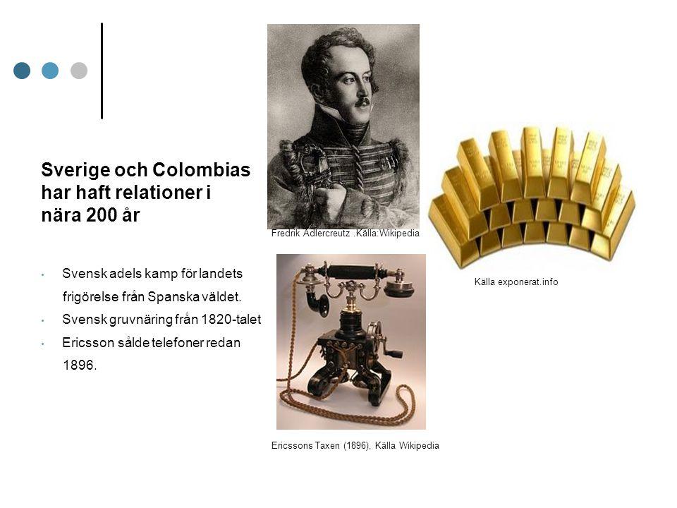 Sverige och Colombias har haft relationer i nära 200 år