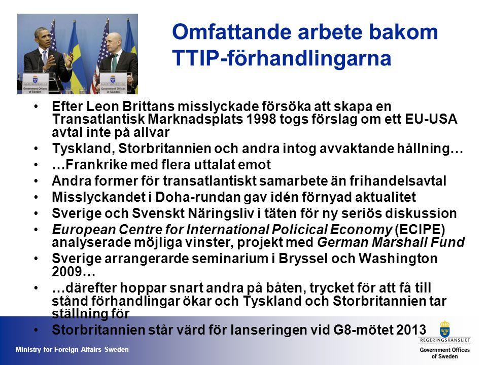 Omfattande arbete bakom TTIP-förhandlingarna