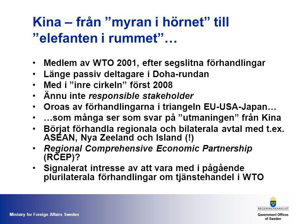Kina – från myran i hörnet till elefanten i rummet …