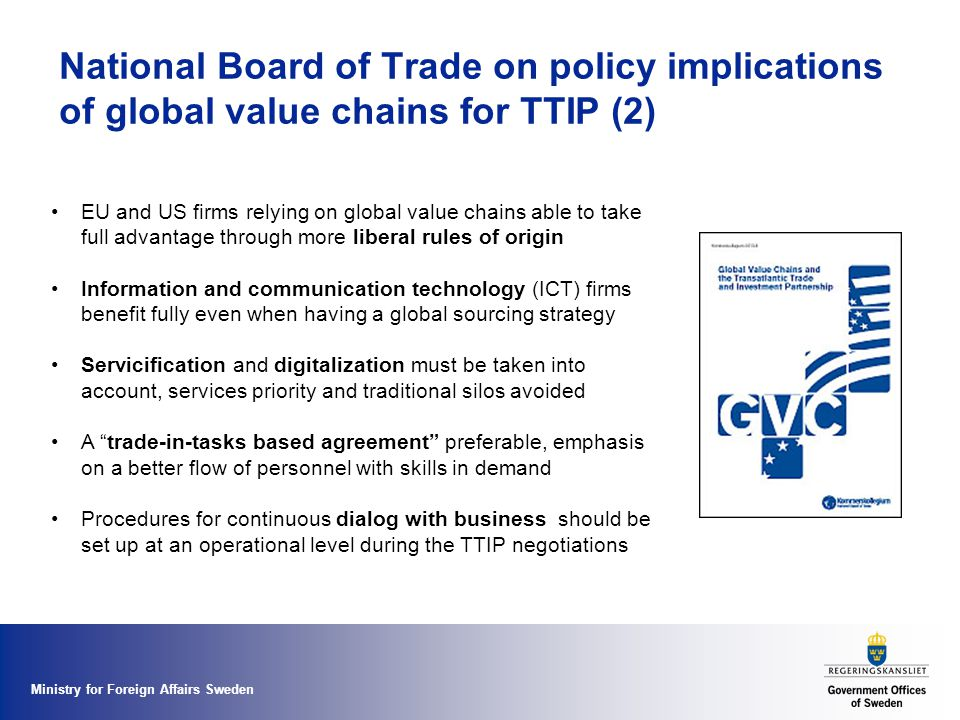 National Board of Trade on policy implications of global value chains for TTIP (2)