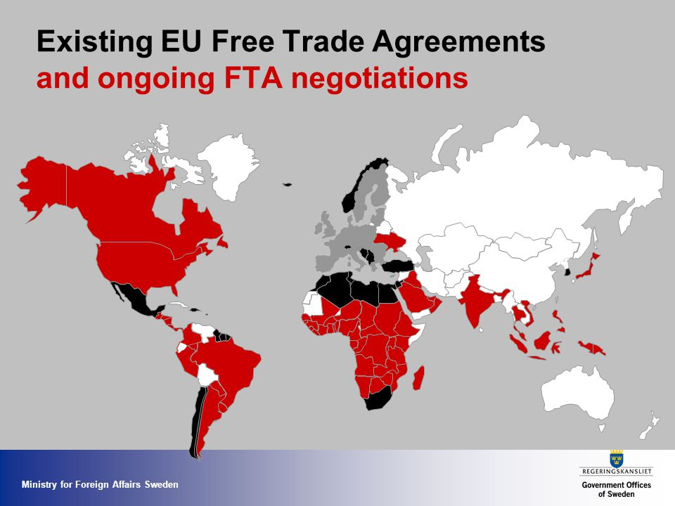 Existing EU Free Trade Agreements and ongoing FTA negotiations