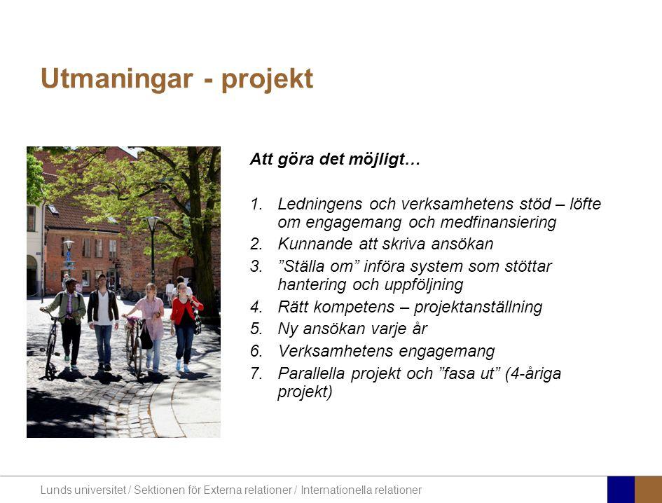Utmaningar - projekt Att göra det möjligt…