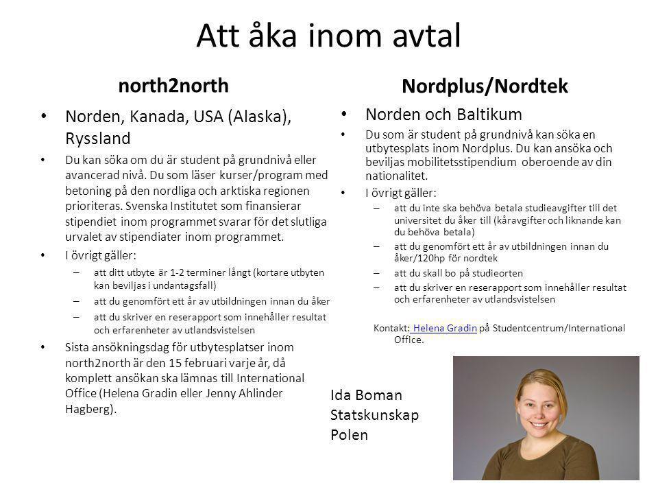 Att åka inom avtal north2north Nordplus/Nordtek