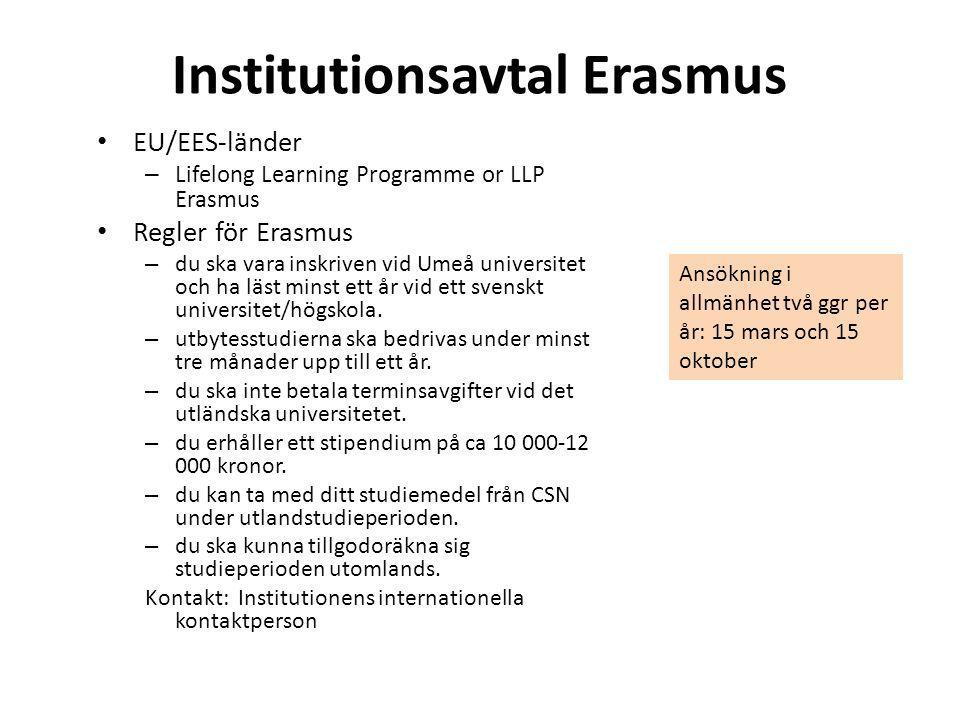 Institutionsavtal Erasmus