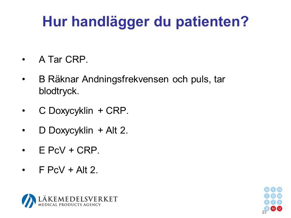 Hur handlägger du patienten
