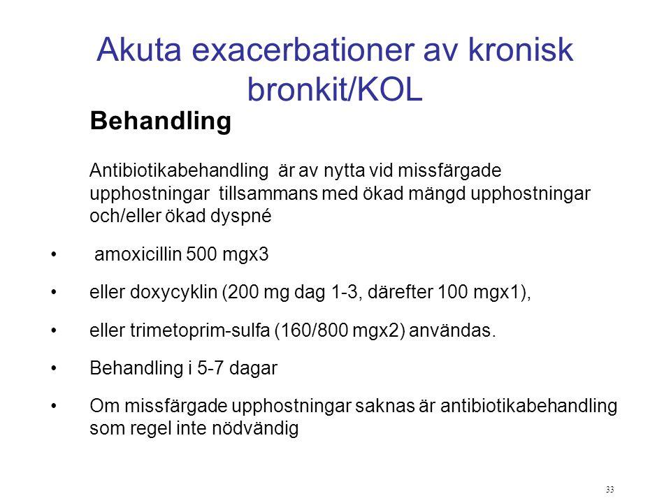 Akuta exacerbationer av kronisk bronkit/KOL