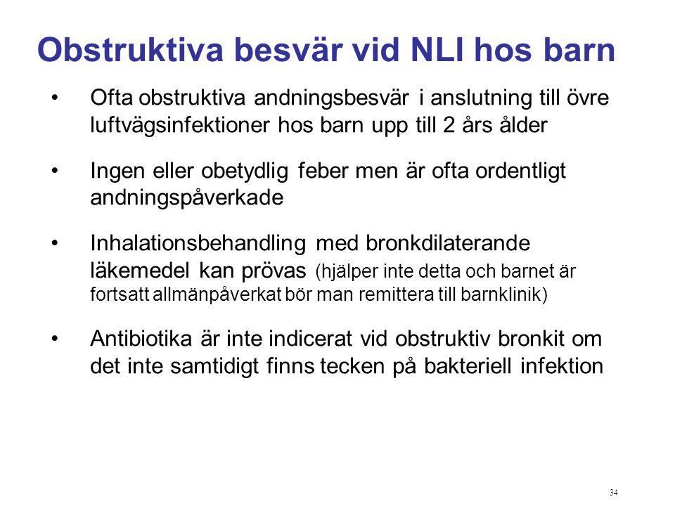 Obstruktiva besvär vid NLI hos barn