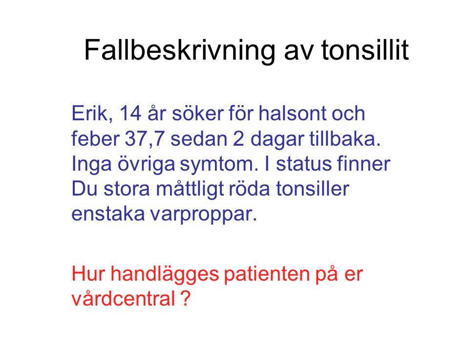 Fallbeskrivning av tonsillit