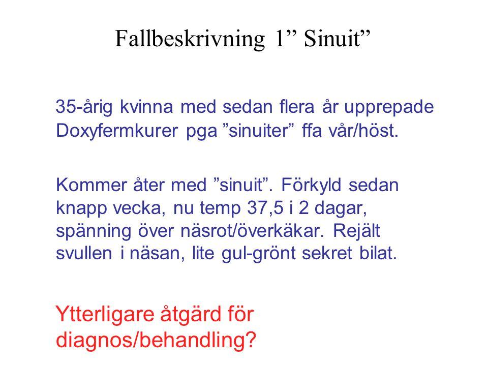 Fallbeskrivning 1 Sinuit