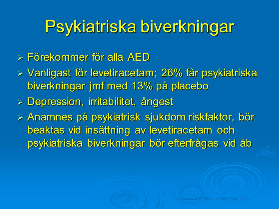Psykiatriska biverkningar