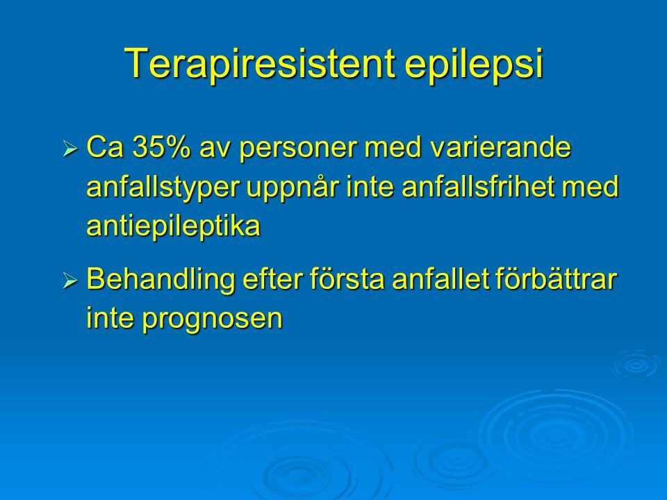 Terapiresistent epilepsi