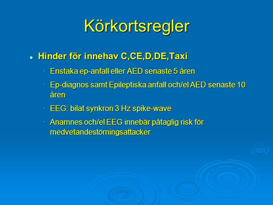 Körkortsregler Hinder för innehav C,CE,D,DE,Taxi
