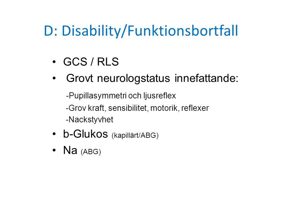 D: Disability/Funktionsbortfall
