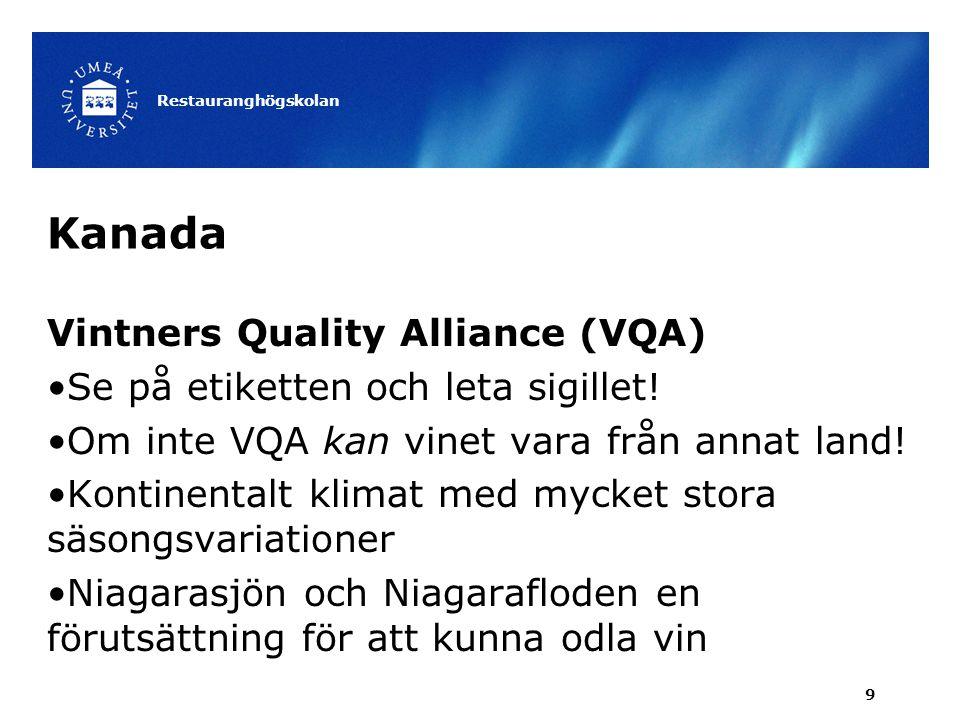 Kanada Vintners Quality Alliance (VQA)