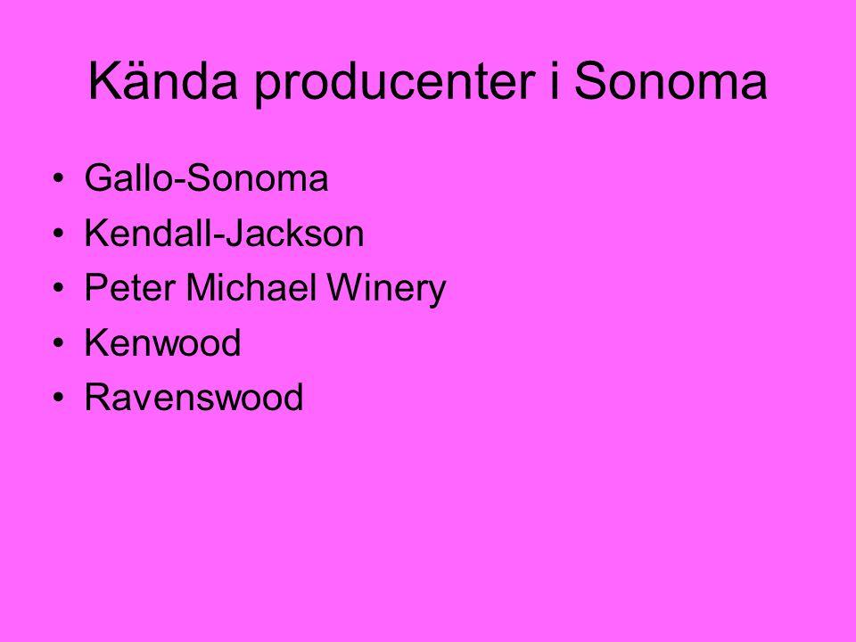 Kända producenter i Sonoma