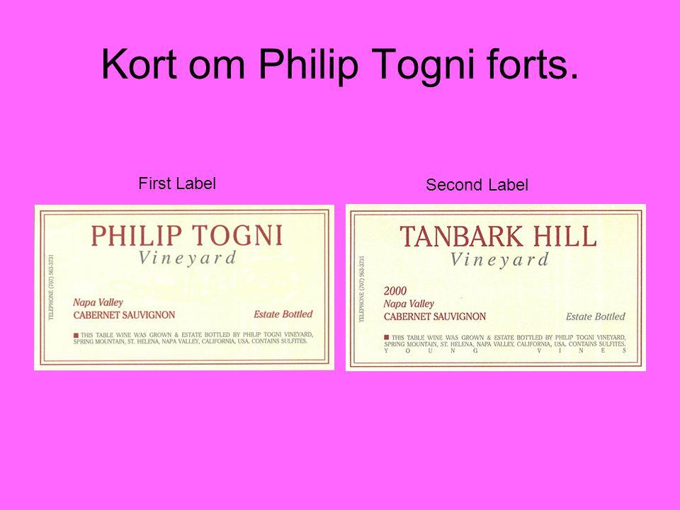 Kort om Philip Togni forts.